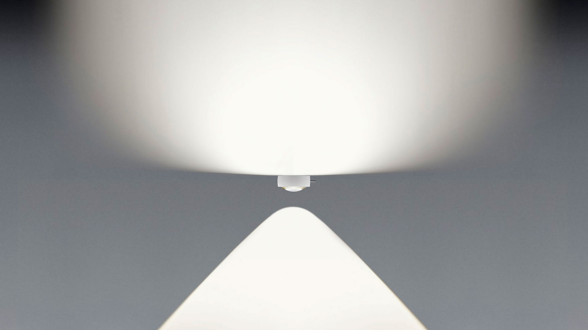 Sento tavolo table luminaire lighting effect E – diffuse uplight and contoured downlight