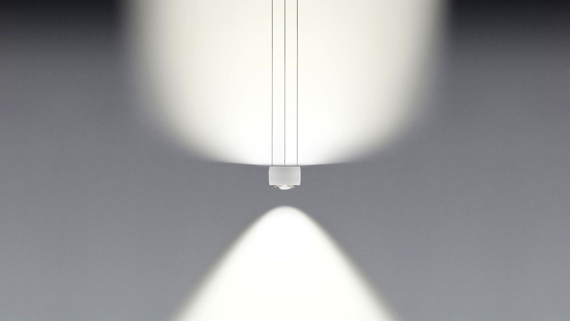 Occhio Sento sospeso due suspended luminaire lighting effect E – diffuse uplight and soft downlight