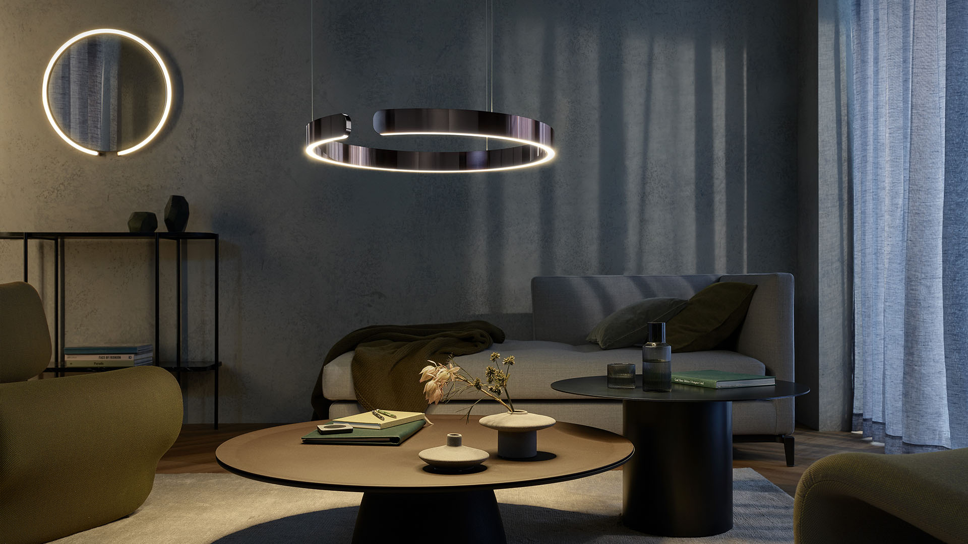 Mito sfera mirror light wall luminaire mirror with light